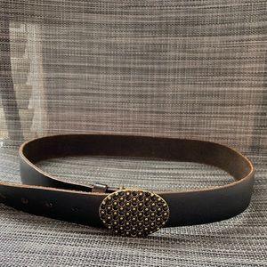 AEO accessory  Brass Buckle Leather Belt S